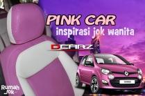 Desain Jok Mobil Spin Pink